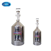 Standard Stainless Steel Metal Measuring Can And Proving Tank Volumetric Fuel Volume Calibration Can Oil Measuring Cans