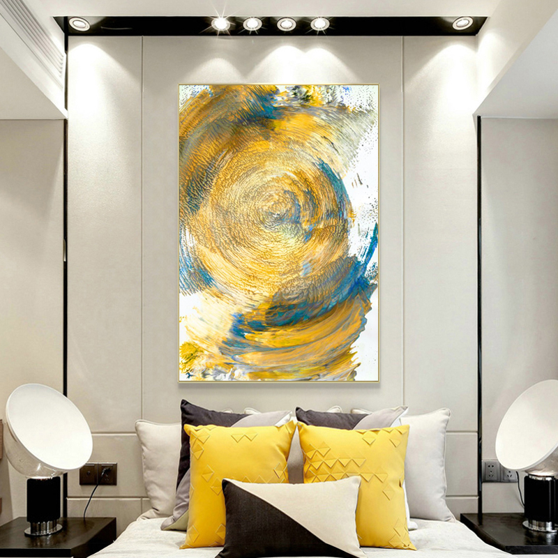 Modern Oil Painting on Canvas Posters and Prints Wall Art Painting Abstract Mountain Line Picture for Living Room Decor No Frame in Painting Calligraphy from Home Garden