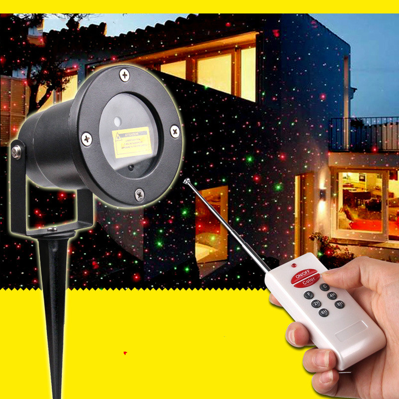 Outdoor Waterproof Lawn Laser Light Antenna Remote Control Plug In The Christmas Landscape Lamp Dynamic Sky Star