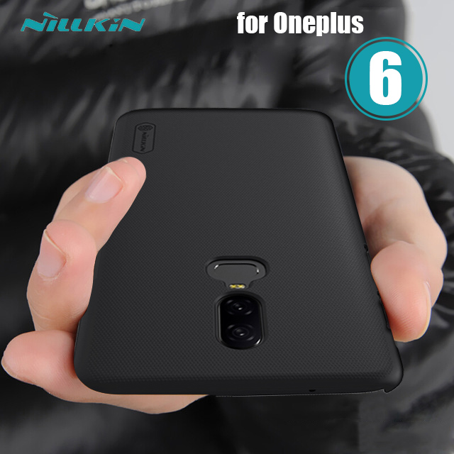 Oneplus 6 Case Nillkin Super Frosted Shield One plus 6 Hard Back Cover Oneplus6 Plain Case for Oneplus 5 5T 6 Nilkin Phone Case