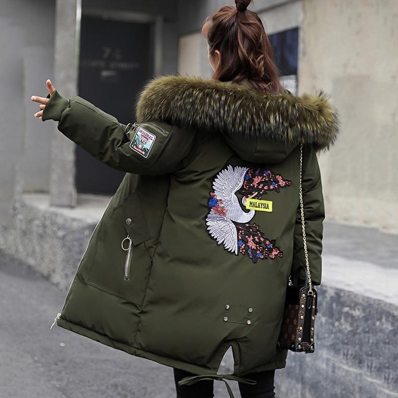 Capot Veste Vert Femmes Grand De ed Manteaux Col Filles Noir Parka caramel military Style Beige 2018 black Hiver Green Fourrure Anorak Mignon Coréenne Faux Mince Femelle Militaire f6wwEaAWqx