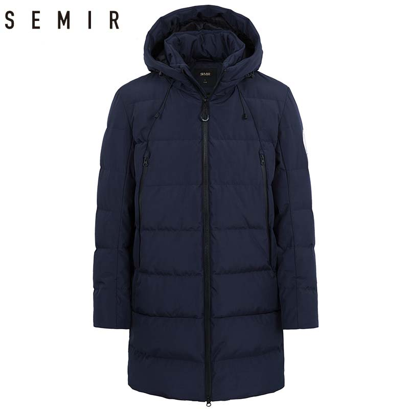 SEMIR down jacket for men casual thick warm winter long hooded coat duck down jacket for men winter clothes men outerwear fashion children s winter thick down jacket long sleeve hooded warm children outerwear coat casual hooded down jacket