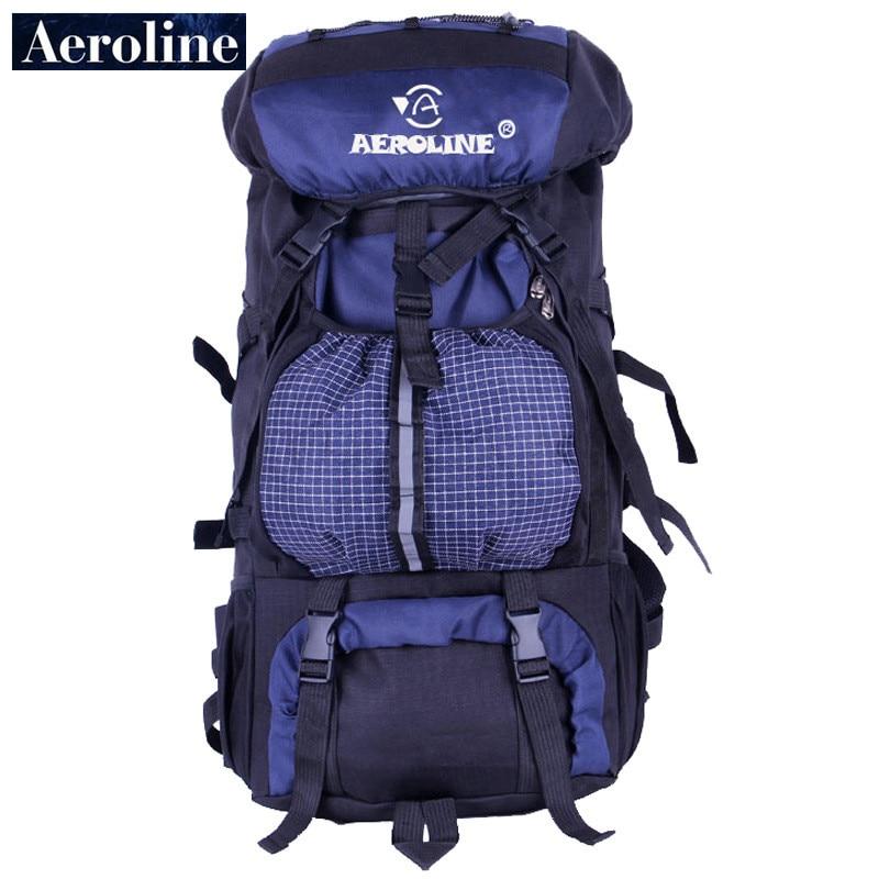 Aeroline 야외 브랜드 남자 배낭 스포츠 여행 65 L 대용량 여성 소프트 다시 등산 가방 방수 배낭