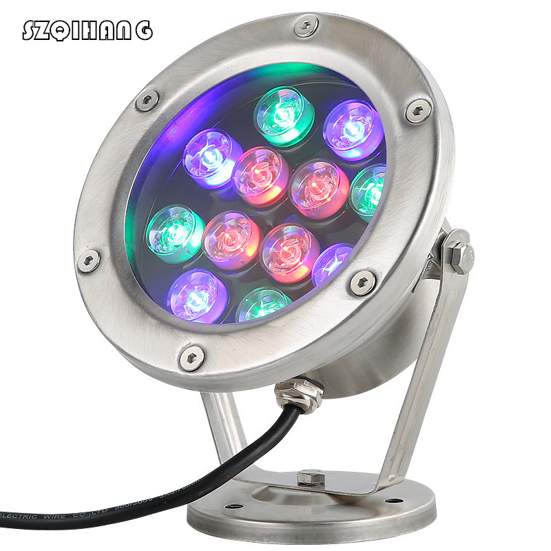 Lights & Lighting Beautiful 3w 6w 9w 12w 18w 24w Ip67 Led Underwater Light Warm Cold White Red Green Blue Rgb Led Light Colorful Water Led Pool Light Ac12v Preventing Hairs From Graying And Helpful To Retain Complexion