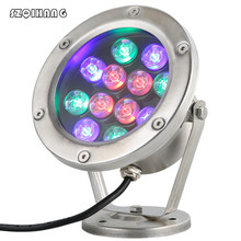 3W 6W 9W 12W 18W 24W IP67 led underwater Light Warm Cold White Red Green Blue RGB light colorful water pool AC12V