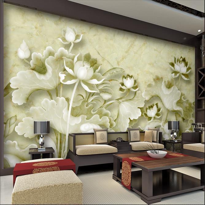 Beibehang anpassen größe hohe schnell hd mural 3d tapeten papier Geprägt lotus papel de parede wallpaper für wände 3 d