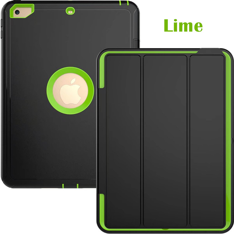 Lime Heavy smart case with 3stand for iPad 9.7 (2017, 2018, A1822, A1893)