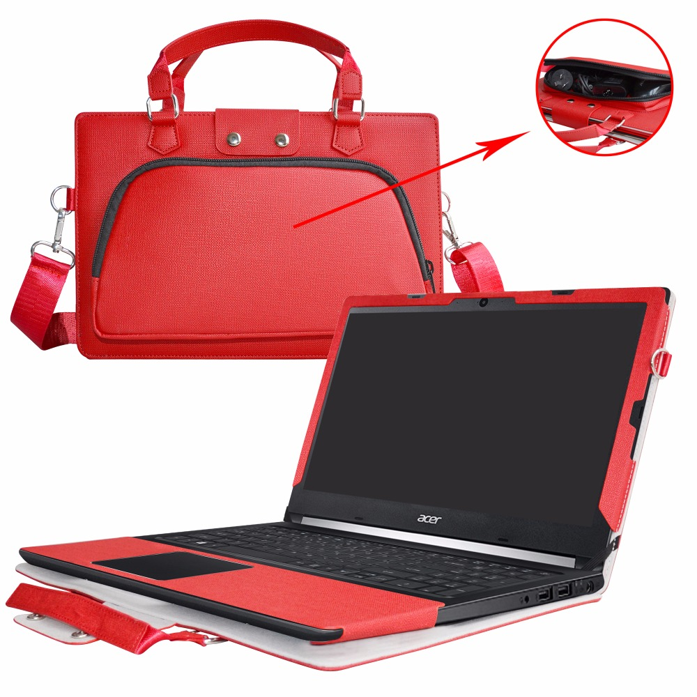 2 in 1 Accurately Designed Protective PU Leather Cover + Portable Carrying Bag For 15.6 Acer Aspire 5 A515-51 series Laptop ...