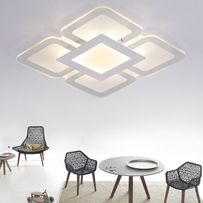 Acrylic ceiling Lamp ultra thin Square / Rectangle ceiling Flat light SMD LED Panel Light Surface mounted Dimmable AC 85-265V стоимость