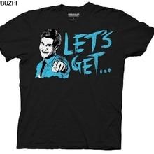984590731 Workaholics Let's Get Weird Flip Adam DeMamp Face Adult Black T-shirt Casual