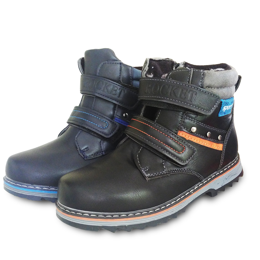 Anne ve Çocuk'ten Botlar'de Sıcak satış 1 çift deri kış pamuk yastıklı kar botları çocuk ayakkabı  yüksek kaliteli rahat çocuk/kız/erkek spor ayakkabılar title=