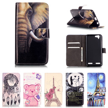 For Lenovo Vibe K5 Case PU Leather Flip Stand Magnetic Buckle Cartoon Painting Wallet Covers For Lenovo Vibe K5 A6020a40 Case