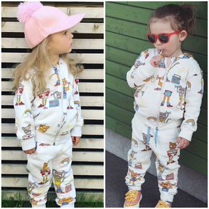 Image 5 - TinyPeople Brand Baby Boy Clothing Suits Autumn Casual Baby Girl Clothes Sets Children dress Hoodie Sports pants Spring Kids Set