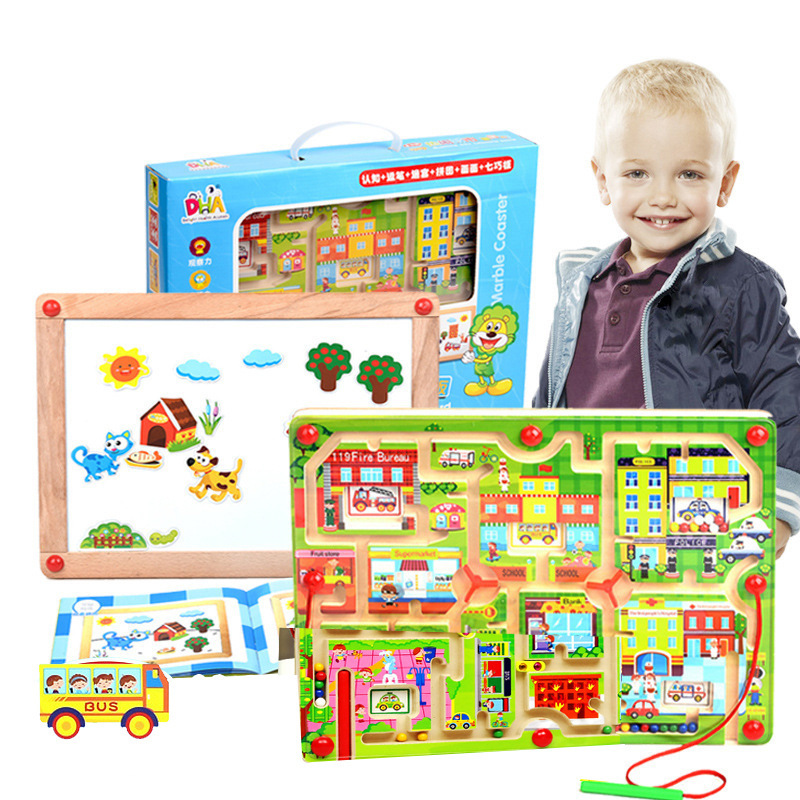 Toys For Grade 1 : Nshine top grade busy city wooden labyrinth toys magnetism