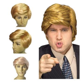 Donald Trump Wig Costume Accessory Billionaire Hair Adult adjustableFancy Dress