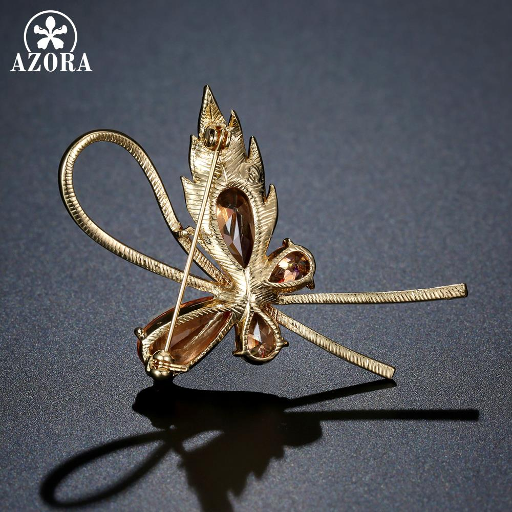 6b4a6f9ad56 [HOT DEAL] US $16.15 for AZORA Champagne Cubic Zirconia Butterfly Brooches  for Women Rhinestone Brooch Pin Fashion Jewelry Coat Dress Corsage TP0093