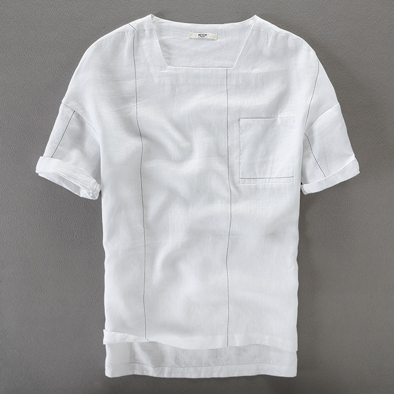 2017 New 100% linen shirts men short sleeve summer men shirt brand clothing mens shirt fashion casual shirts male camisa chemise