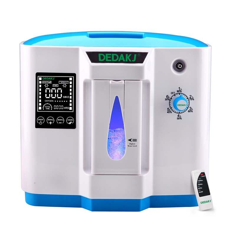 DEDAKJ DDT-1B purificador de aire Portabl concentrador de oxígeno generador de la máquina ajustable casa AC110V/220 V no batería