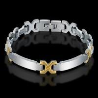 Mens Braclets Stainless Steel Cool Bracelets Bangles For Men Wholesale Braslet 2017 Male Silver Color Bracelet