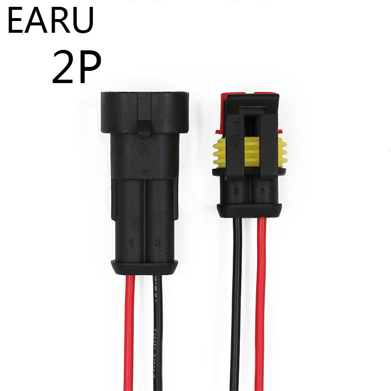 AMP 1.5 2 Pin Way Sealed Waterproof Electrical Wire Connector Plug Set Auto Connectors With Cable Factory Online Wholesale