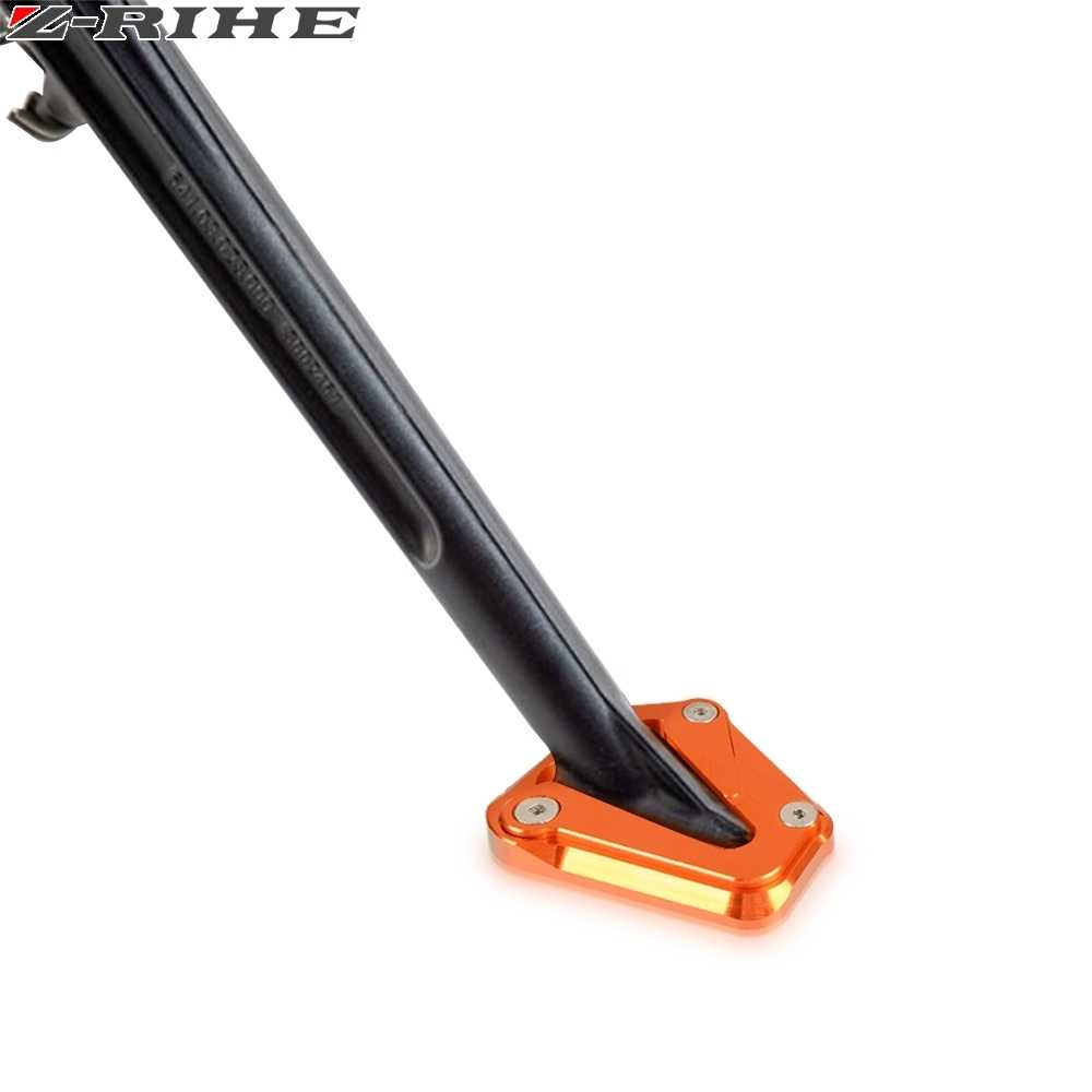 Typ Kickstand Side Shoe Foot Rests Stand Extension Enlarger Aluminum for KTM Duke 790 2018 2019 2020 Color : Orange Black