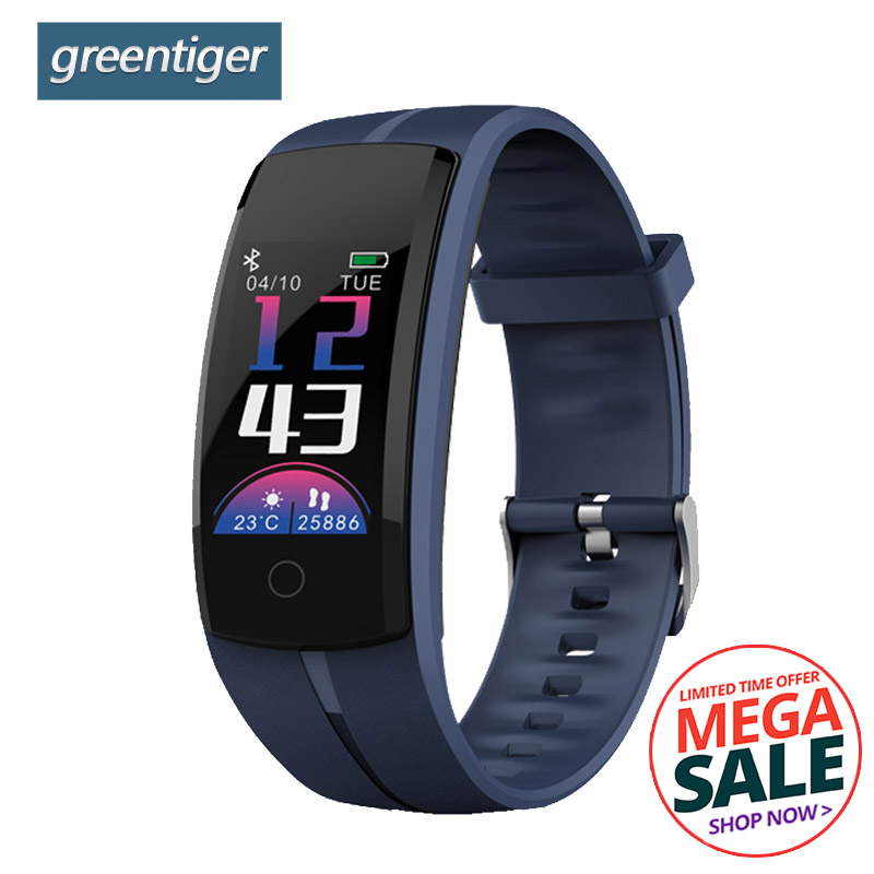 Greentiger QS100 Smart Wristband Heart Rate Monitor Fitness Tracker Smart bracelet Blood Pressure Sport Smart Band VS QS90