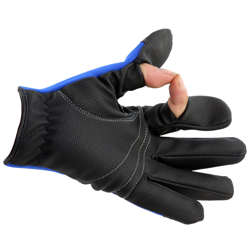 High quality men winter professional fishing gloves luva for Winter fishing gloves