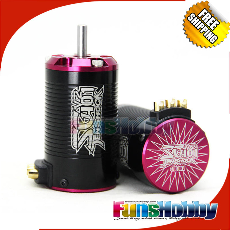где купить  Tenshock 1:10 Short Course 4Pole Sensorless RC Cars Micro Brushless Motor SC401V2-3400KV/3800KV/4400KV/5000KV For YETI Slash 4*4  дешево