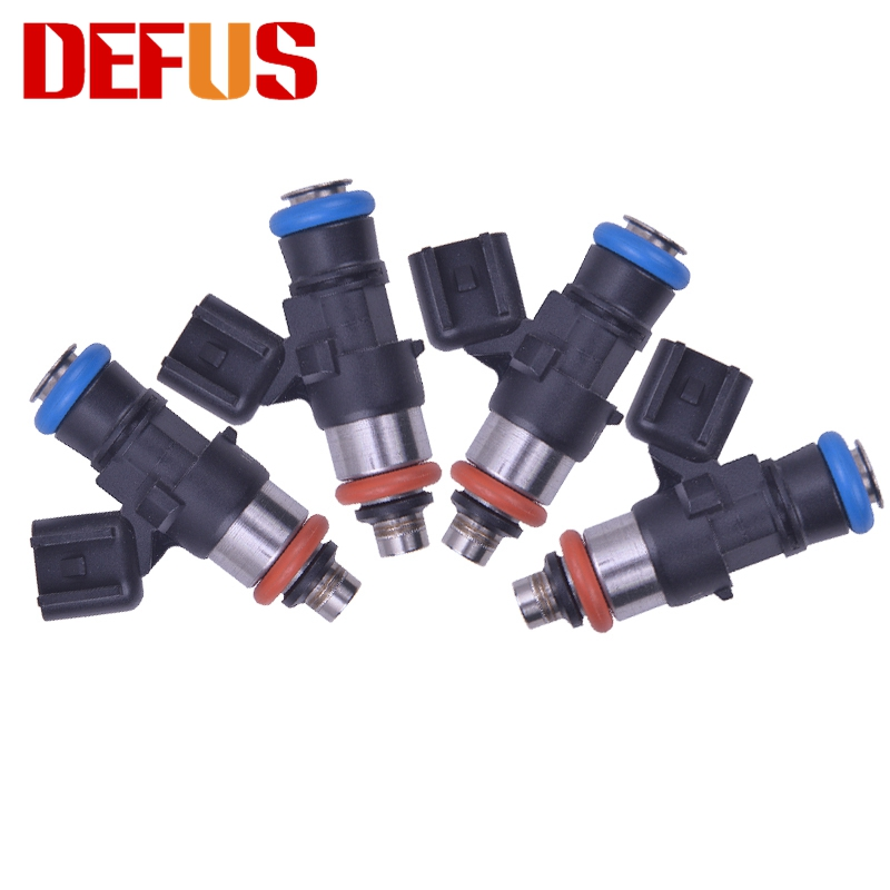 4X 0280158051 High Quality Fuel Inejctor <font><b>660cc</b></font> 60lb for Modified Cars Petrol Nozzle Engine Injection Valve Injectors Matched NEW image