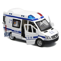 Auto Speelgoed Special Political Car Model Alloy Car 120 Ambulance Model Sound Light Pull Back Children's Toy Car Diecast 1:32