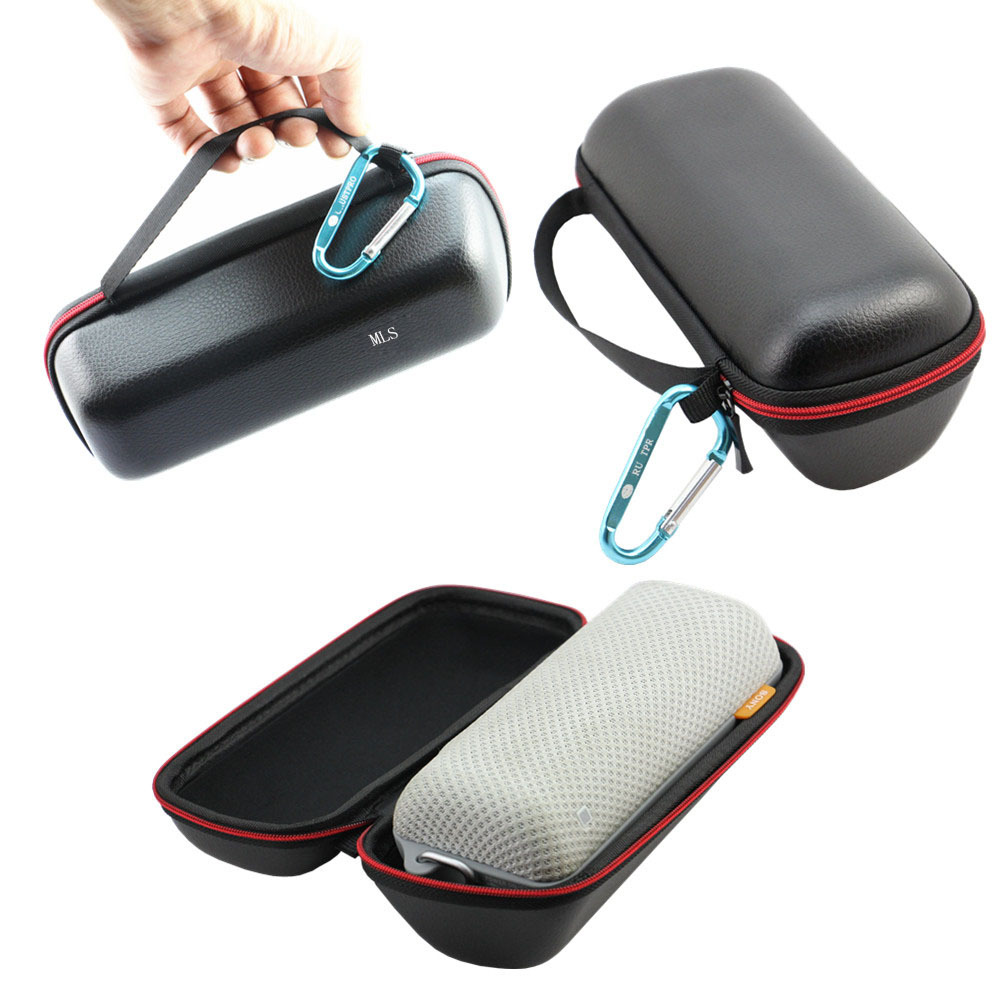 Pouch PU Travel Carry Cover Bag Pouch Case Sleeve Portable Protective Box For Sony SRSBTS50 SRS-BTS50 Bluetooth Wireless Speaker