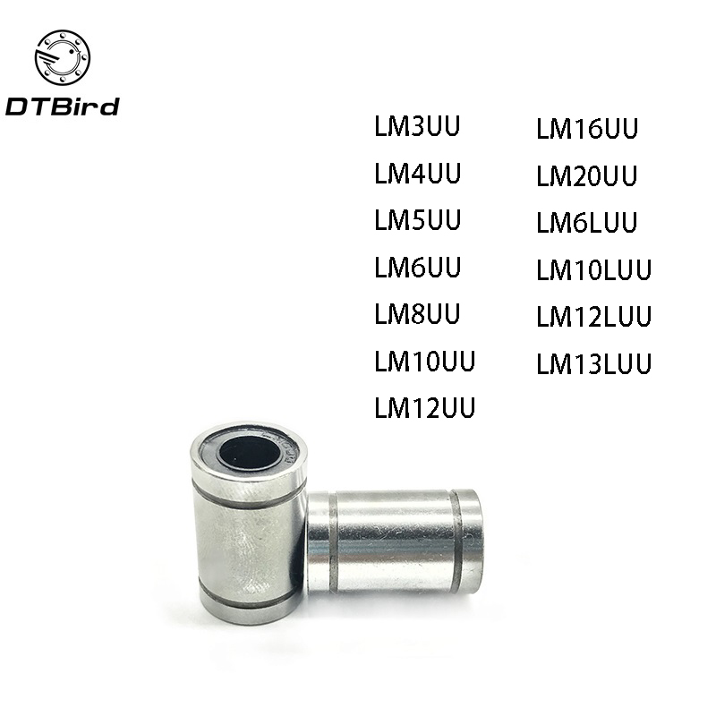 10pcs/lot LM8UU LM3/4/5/6/8/<font><b>10</b></font>/12/<font><b>16</b></font>/20UU LM6LUU LM10/12/13LUU Bushing Linear Bearings For Rods Liner Rail Linear Shaft Parts image