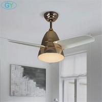 Designer lamp Nordic LED ceiling fan lights modern minimalist living room remote control 20W led ceiling fans lamp colorful kid