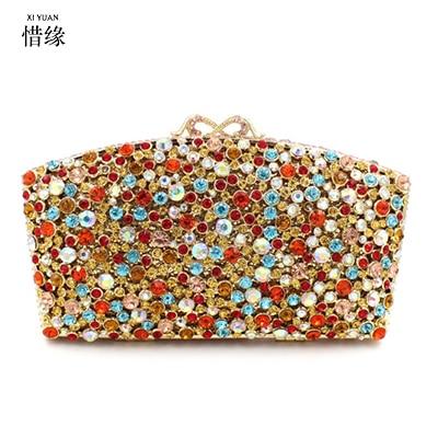 XIYUAN BRAND font b womens b font 2017 luxury and fashion Fan shaped crystal full diamond