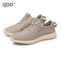 Lovers Sports Shoes 2017 Fly Knit Mesh Little Yeezy Boost Men Tennis Shoes Men Sneakers Hot