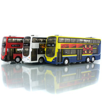 New Scale Diecast Metal Shuttle Bus Models Boys Gifts Alloy Toys Car With Openable Doors Pull Back Function Model Toys Car Kits