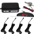 4 Sensors System 12v LED Display Indicator Parking Car Reverse Radar Kit Black
