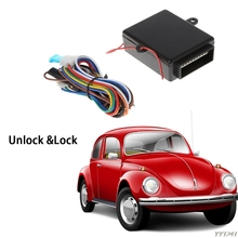 Car Alarm Systems Auto Remote Central Kit Door Lock Locking Vehicle Keyless Entry System with 2 Controllers Universal