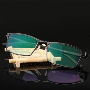 Image 3 - Titanium alloy Outdoor Photochromic Reading Glasses Men Sun Automatic Discoloration Presbyopia Hyperopia Glasse gafas de lectura