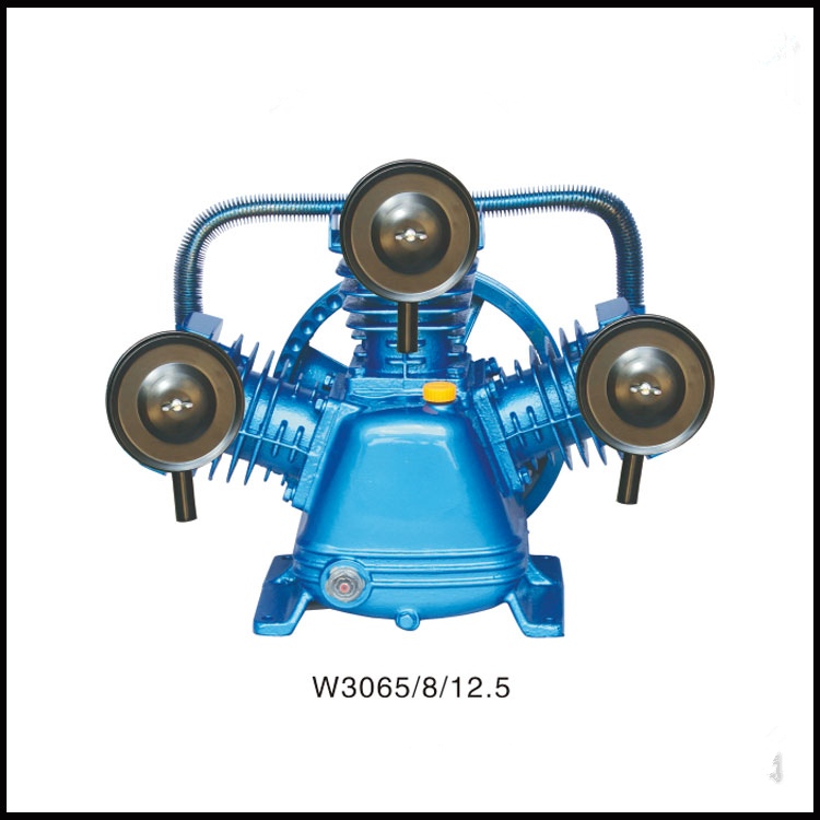 W3065/8/12.5 220V/380V 3KW portable piston belt driven air compressor air compressor cylinder head portable air compressor 8l air pool cylinder noisy less light tool 0 7mpa pressure economic speciality of piston filling machine