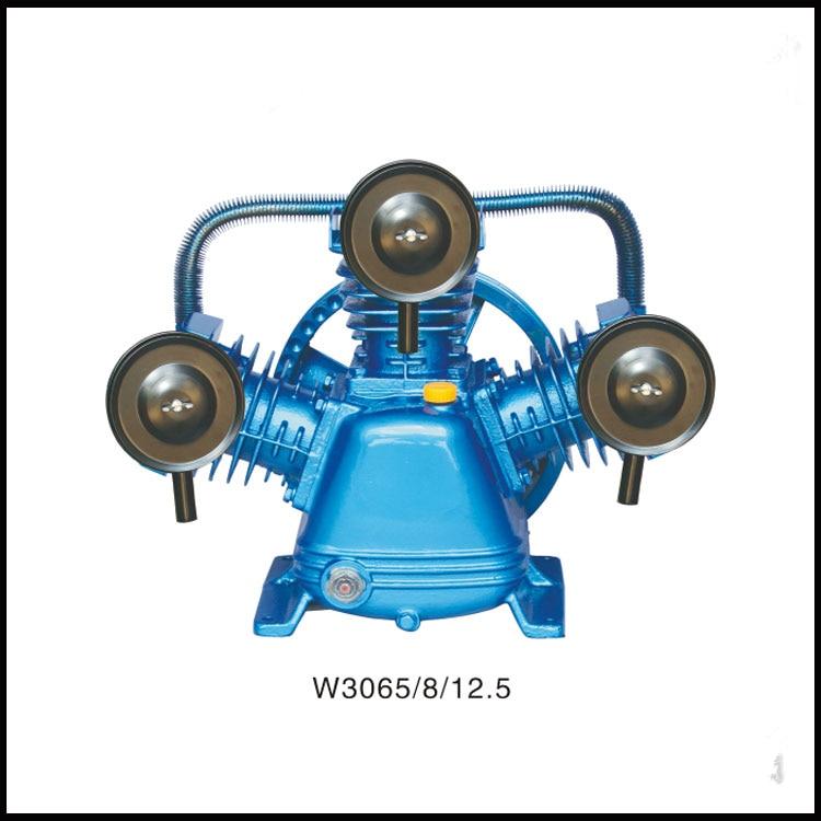 W3065/8/12.5 220V/380V 3KW portable piston belt driven air compressor air compressor cylinder head 38mm cylinder barrel piston kit