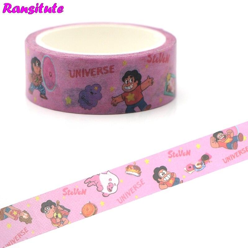 Ransitute R461 Cartoon Children's Toys Washi Tape Traffic Tape DIY Cartoon Book Decoration Hand Sticker