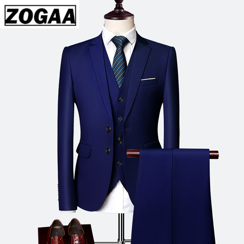 2019 Male Wedding Dress Custom Made Groom Tuxedos Men's Suits Tailor Suit Red Blazer Suits For Men 3 Piece Jacket+Pants+Vest