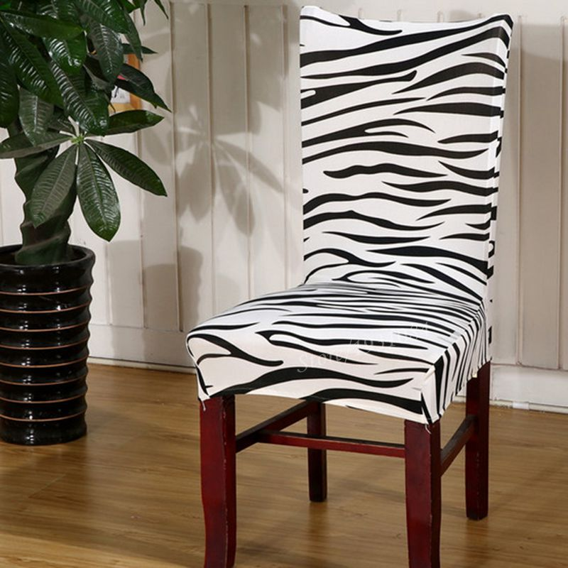 10 Colors Zebra Flower Printed Elastic Chair Covers For Wedding Party Banquet Slipcovers Home Decor