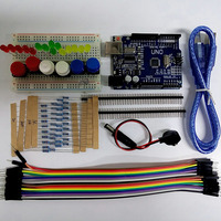 Starter Kit UNO R3 MINI Breadboard LED Jumper Wire Button For Arduino Free Shipping
