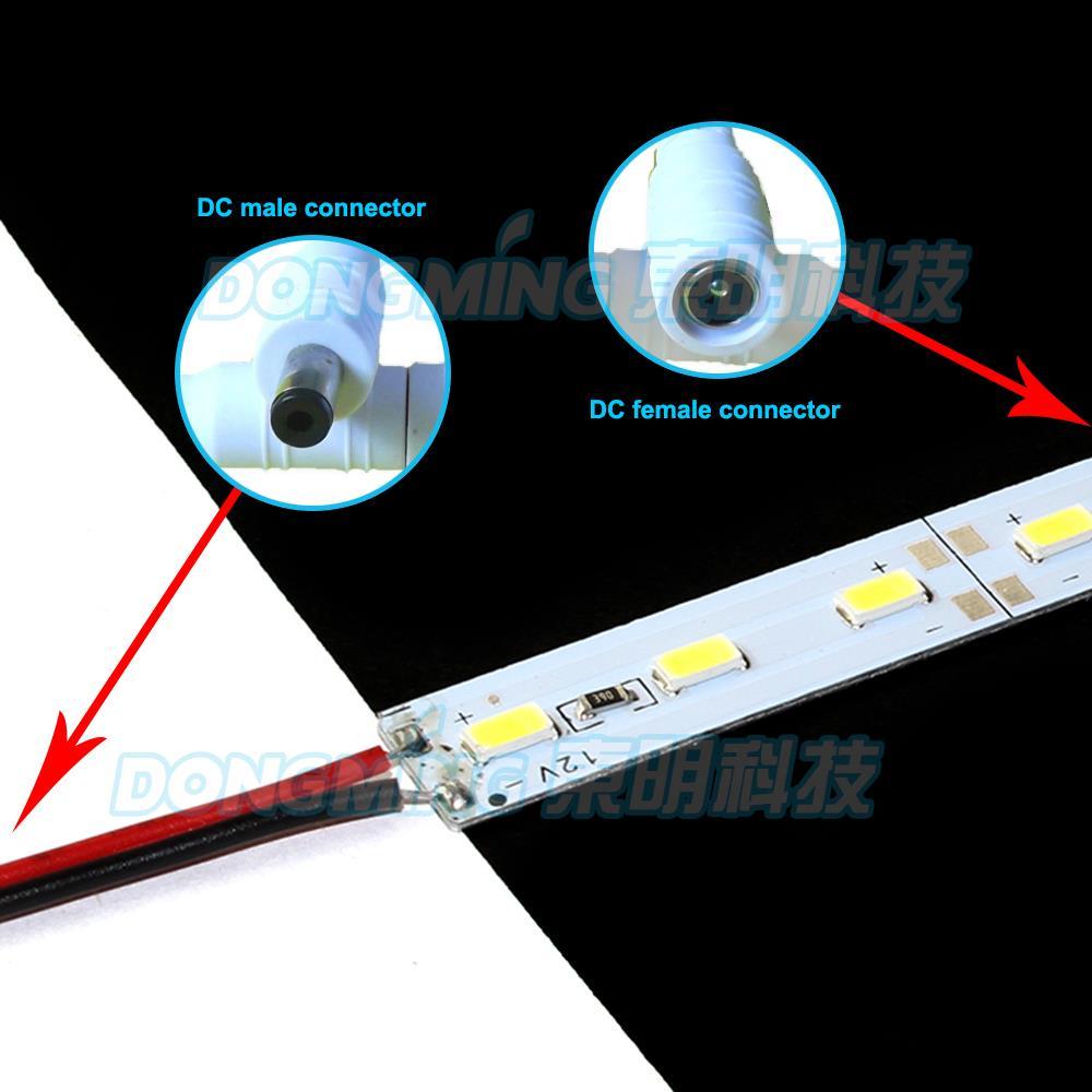 6 шт. u алюминиевый профиль 50 см 5630smd светодиодные фонари DC 12 В ПК молочный/прозрачная крышка светодиодные luces полосы, свет бар, свет бар