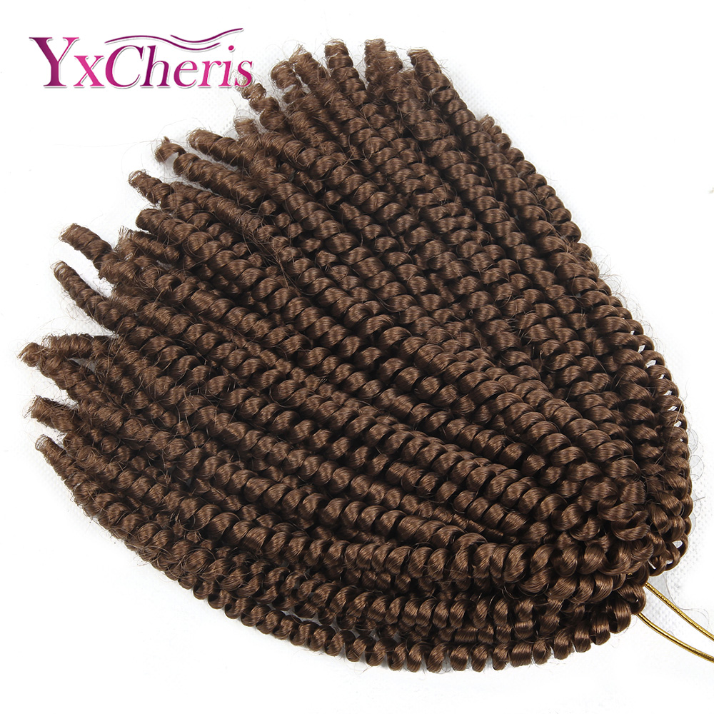 Curly Crochet Hair Braid Synthetic Ombre Braiding Hair Spring Twist Crochet Braids Nubian Twist