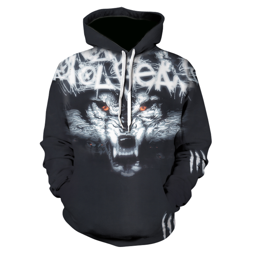 2018 New Brand Hoody Sweatshirts 3d Marvel Wolf Head Hip Hop Hoodies Men Fashion Sweat Anime Hoodie Streetwear Mens Tracksuit