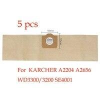 5pcs Replacement KARCHER Vacuum Cleaner A2204 A2656 WD3300 3200 SE4001 Dust Bag Vacuum Cleaner Bag Paper