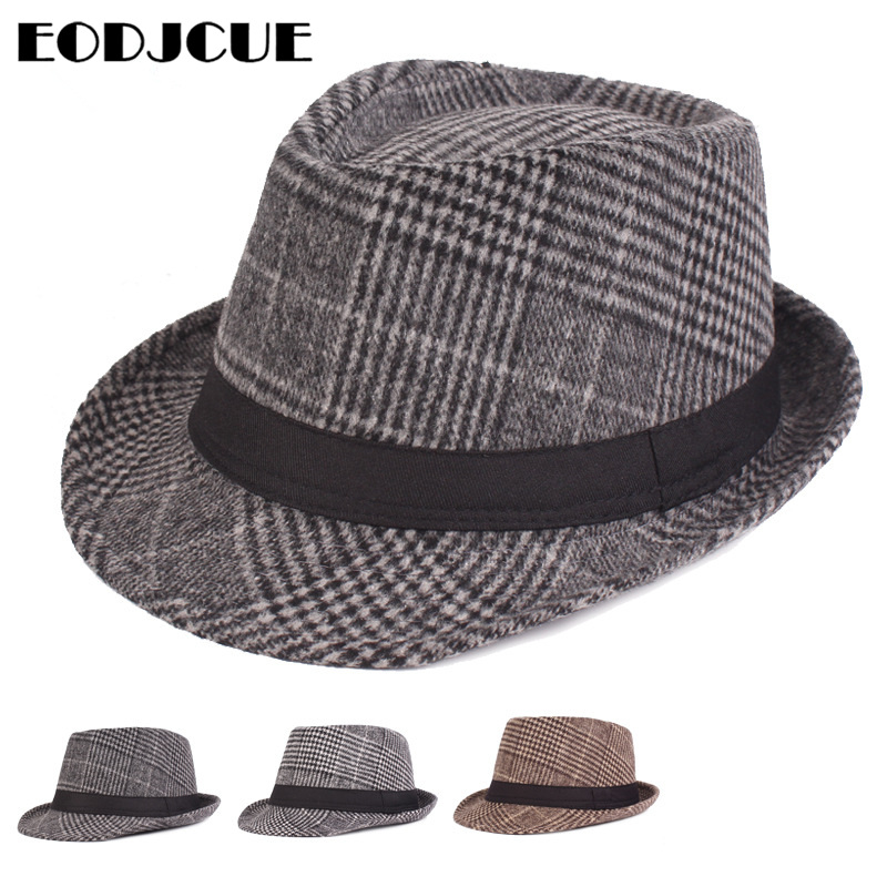 Hot Sale 2019 new Fashion men fedoras women's fashion jazz hat Winter black woolen blend cap outdoor casual hat gorras